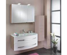 Spiegelschrank mit Waschtisch Weiß Eiche Sonoma (2-teilig)