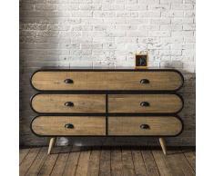 Wohnzimmer Sideboard mit Schubladen Loft Style