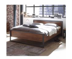 Komfortbett im Loft Design Eiche dunkel