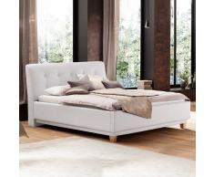 Polsterbett in Weiß 180x200 cm