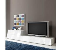 TV Wohnwand in Weiß Hochglanz modern (2-teilig)