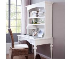 Schreibtisch mit Aufsatzregal Landhausstil Weiß