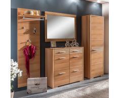 Garderobenmöbel Set mit Schuhschrank Kernbuche (4-teilig)