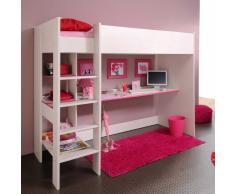 Kinderzimmer Hochbett mit Schreibtisch Weiß