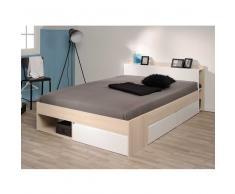 Bett mit Stauraum Akazie Weiß