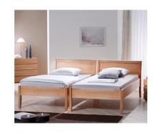 Komfortbett aus Buche Massivholz (2-teilig)