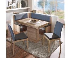 Sitzecke mit ausziehbarer Eckbank modern (4-teilig)
