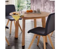 Holztisch rund Wildeiche Massivholz