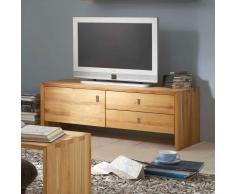 TV Unterschrank aus Kernbuche Massivholz Griffe klappbar