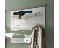 Wandpaneel Garderobe im Landhausstil Holz Braun (2-teilig)