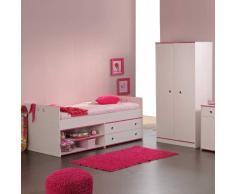 Möbel für Kinderzimmer Weiß Pink Blau (2-teilig)