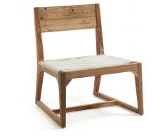 Stuhl aus Teak Recyclingholz Kunstrattan