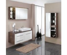 Badezimmermöbel Set mit Waschtisch und Spiegelschrank Rostfarben (3-teilig)