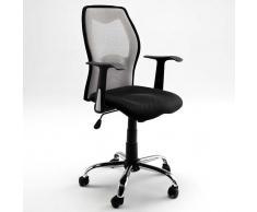 Schreibtischstuhl in Schwarz-Silber Rollen