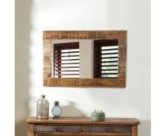 Schlafzimmerspiegel mit Holzrahmen Loft Design