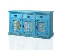 Holz Sideboard in Blau Altholz