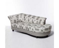 3 Sitzer Sofa in Grau Beige Landhaus