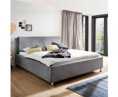 Komfortbett mit Lattenrosten Hellgrau