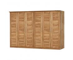 Schlafzimmer Kleiderschrank aus Wildeiche Massivholz 6 türig