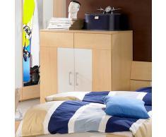 Jugendzimmer-Kommode in Ahorn-Weiß Weiß