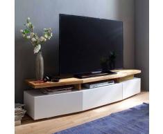 TV Unterschrank in Weiß Eiche lackiert