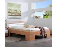 Futonbett in Buche Weiß 140x200