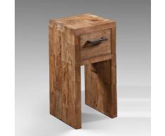 Massivholz Telefontisch aus Teak Schublade