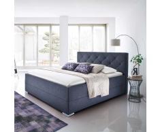 Komfortbett in Anthrazit 180x200