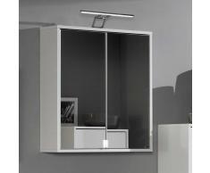 Bad Spiegelschrank in Weiß mit Aufbauleuchte