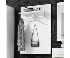 Wandgarderobe in Weiß Hochglanz 80 cm breit