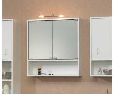 Badezimmer Spiegelschrank mit Beleuchtung 2 türig