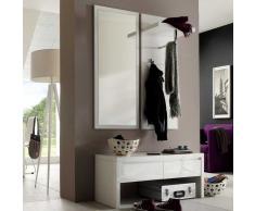 Dielenmöbel Set in Weiß Hochglanz modern (3-teilig)