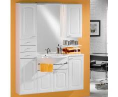 Badezimmer Kombination in Hochglanz Weiß Waschbecken
