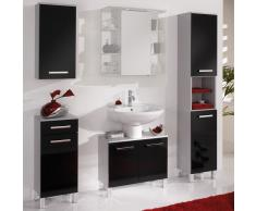 Badezimmer Komplettset in Schwarz Grau Silber (4-teilig)