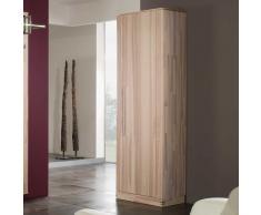 Garderobenschrank aus Kernesche Massivholz 200 cm hoch