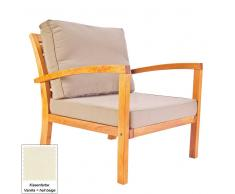 Sessel für  Lounge  Massivholz (3-teilig)