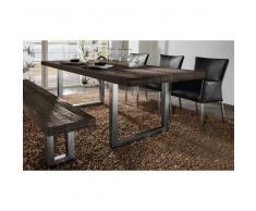 Esszimmer Tischgruppe aus Eiche Massivholz Braun (5-teilig)