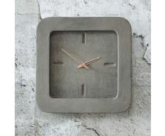 Beton Wanduhr in Grau Industriedesign