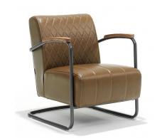Freischwinger Sessel im Retro Design Hellbraun