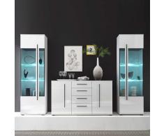 Wohnkombination für Esszimmer Weiß Hochglanz (3-teilig)