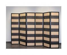 Raumteiler Paravent aus Kiefer Massivholz Bambus Optik