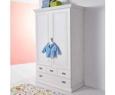 Wäscheschrank für Babyzimmer Kiefer Weiß