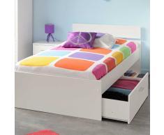 Jugendzimmermöbel in Weiß Schubladenbett (2-teilig)
