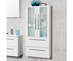 Badezimmerschrank mit Glastüren Weiß