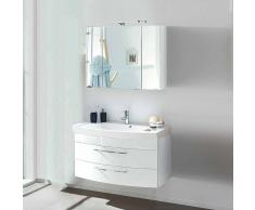Hochglanz Badmöbel in Weiß Waschtisch (2-teilig)