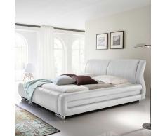 Polsterbett in Weiß für Wasserbett