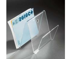 Zeitschriftenhalter aus Acrylglas modern