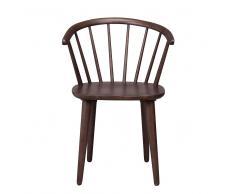 Retro Stuhl in Walnussfarben Holz massiv (2er Set)
