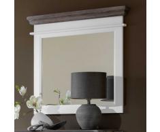 Garderoben-Wandspiegel in Weiß Spiegelglas
