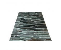 Teppich mit Kuhfell Grau